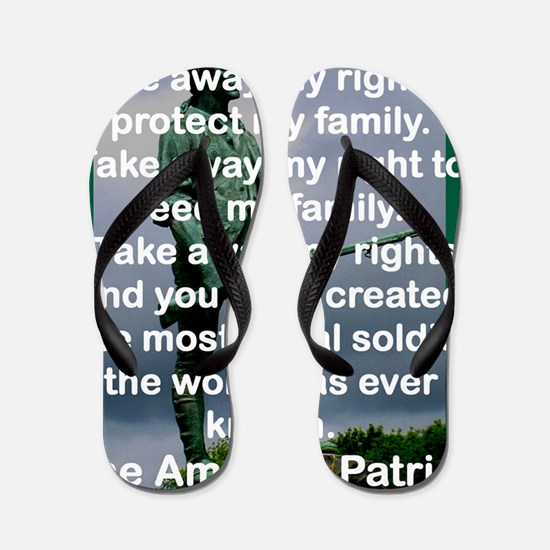THE AMERICAN PATRIOT Flip Flops