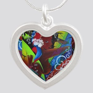 Where Rainbows Dance 2 Silver Heart Necklace