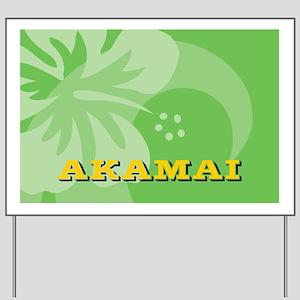 Akamai Bucket Bag Yard Sign