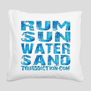 TIKI - RUM SUN WATER SAND - O Square Canvas Pillow