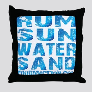 TIKI - RUM SUN WATER SAND - OCEAN Throw Pillow