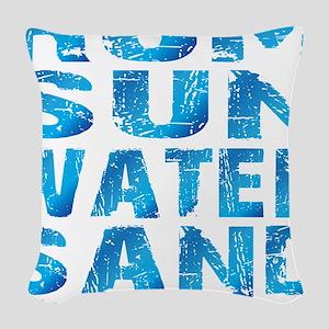 TIKI - RUM SUN WATER SAND - OC Woven Throw Pillow
