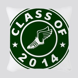 Class Of 2014 Track and Field Woven Throw Pillow