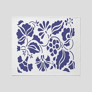 PurpleFlower Throw Blanket
