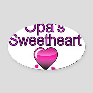 Opas  Sweetheart Oval Car Magnet