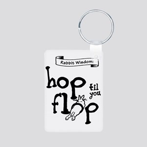 Hop til you Flop Aluminum Photo Keychain