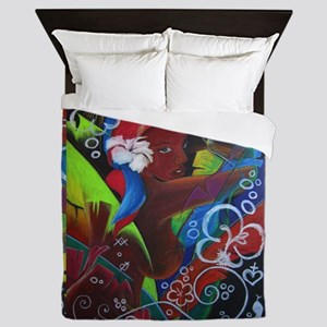 Where Rainbows Dance Queen Duvet