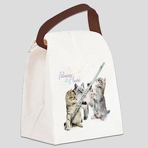 Felines  Flute Canvas Lunch Bag
