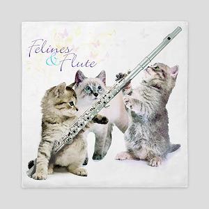 Felines  Flute Queen Duvet