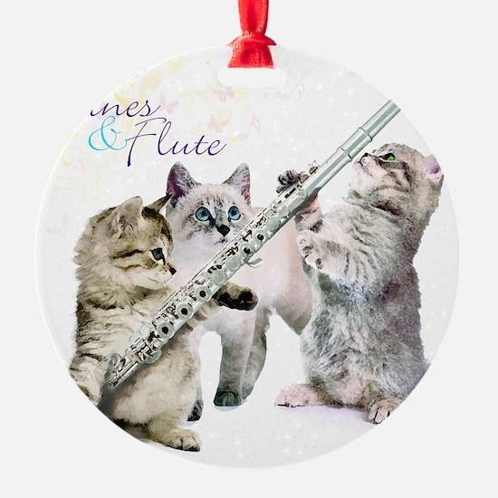 Felines  Flute Ornament