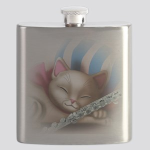 Napping Cat and Flute Flask