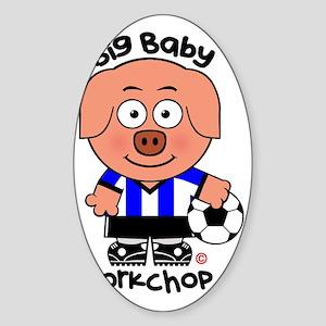 Big Baby Porkchop Soccer Sticker (Oval)