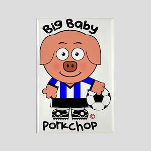 Big Baby Porkchop Soccer Rectangle Magnet