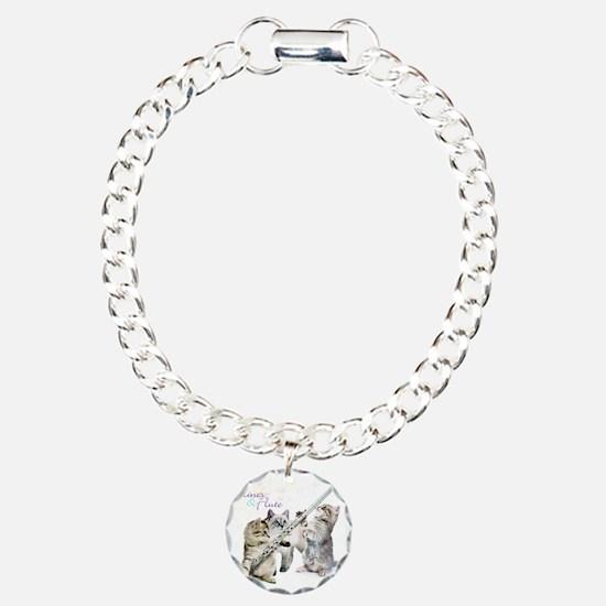 Felines & Flute Charm Bracelet, One Charm