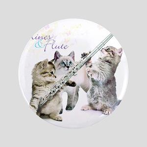 """Felines & Flute 3.5"""" Button"""