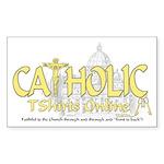 Catholic TShirts Online (Gold) Sticker Rectangular