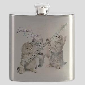 Felines & Flute Flask