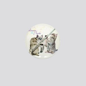 Felines & Flute Mini Button