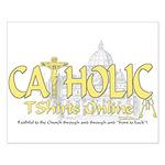 Catholic TShirts Online (Gold) Small Poster