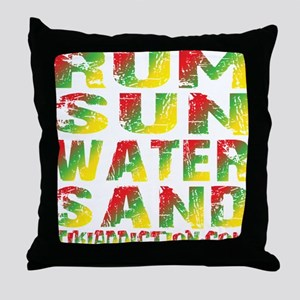 TIKI - RUM SUN WATER SAND - RASTA Throw Pillow