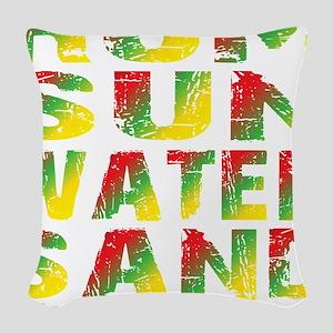 TIKI - RUM SUN WATER SAND - RA Woven Throw Pillow