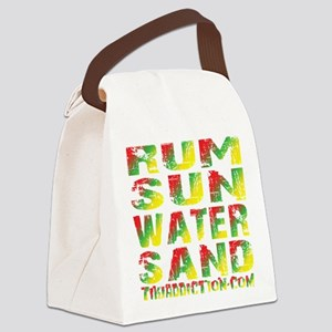 TIKI - RUM SUN WATER SAND - RASTA Canvas Lunch Bag