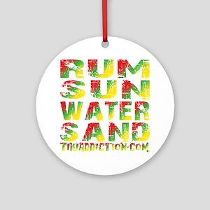 TIKI - RUM SUN WATER SAND - RASTA Round Ornament
