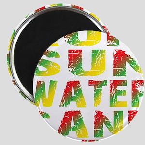 TIKI - RUM SUN WATER SAND - RASTA Magnet