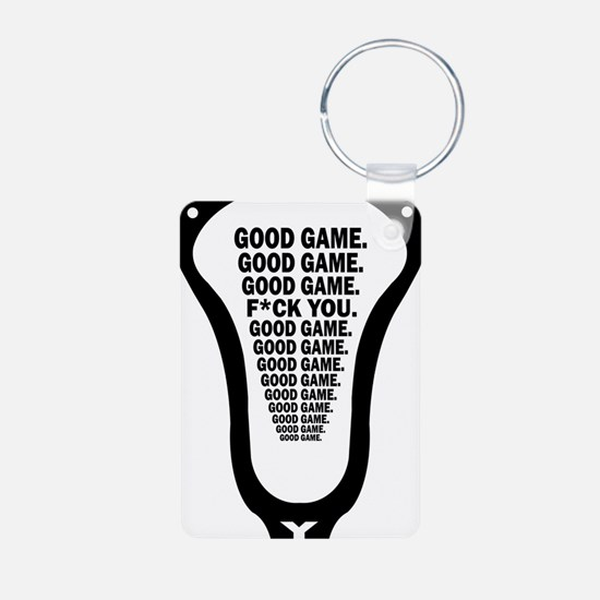 Lacrosse_GoodGame_blk Keychains