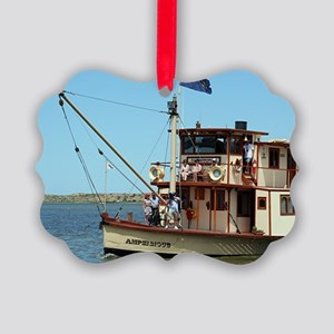 "Paddle Steamer ""Amphibious"", Murr Picture Ornament"