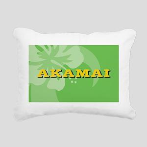 Akamai Oval Car Magnet Rectangular Canvas Pillow