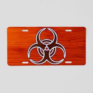 biohaz-inlay-OV Aluminum License Plate