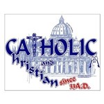 Catholic and Christian (Blue) Small Poster