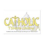 Catholic TShirts Online (Gold) Mini Poster Print