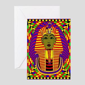 King Tut Pop Art Greeting Card