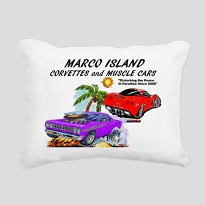 marco island corvettes a Rectangular Canvas Pillow
