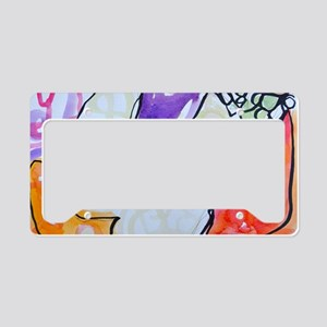 Nude on Colourful Cushions~ K License Plate Holder