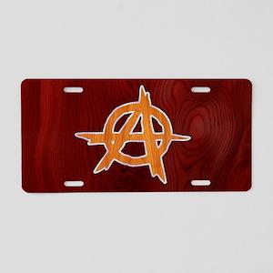anarchy-wood-OV Aluminum License Plate