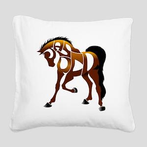jasper brown horse Square Canvas Pillow