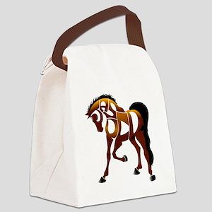 jasper brown horse Canvas Lunch Bag