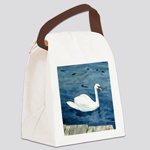 Swan on the Lake Canvas Lunch Bag