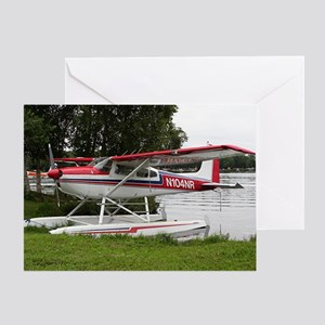Cessna Float Plane (red, white & blu Greeting Card