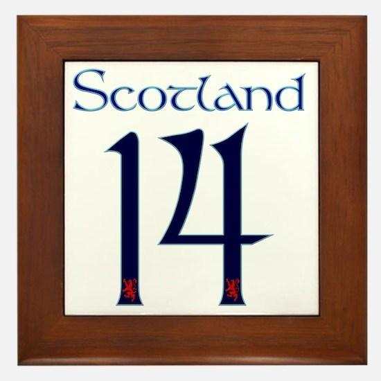 Scotland style large number 14 Framed Tile