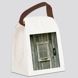 Old wood cabin Canvas Lunch Bag