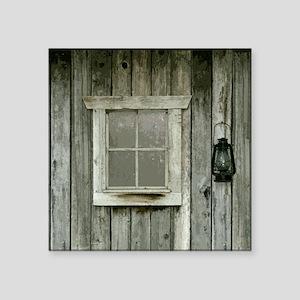 "Old wood cabin Square Sticker 3"" x 3"""