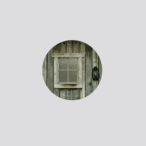 Old wood cabin Mini Button