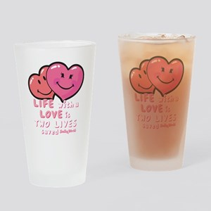 love hearts Drinking Glass