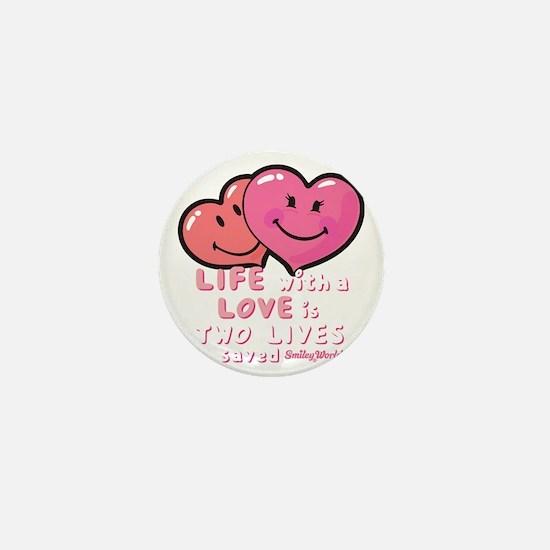 love hearts Mini Button