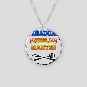 Ukrainian Grill Master Necklace Circle Charm