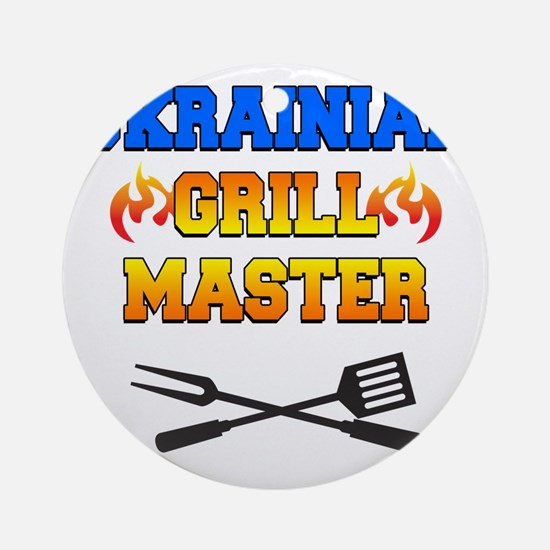 Ukrainian Grill Master Round Ornament